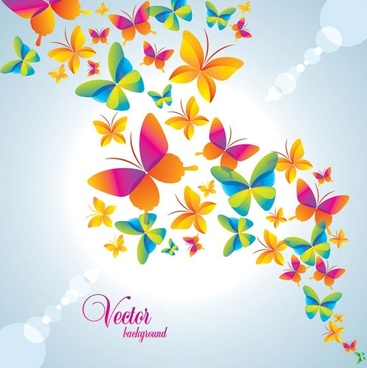 colorful butterfly background vector 2