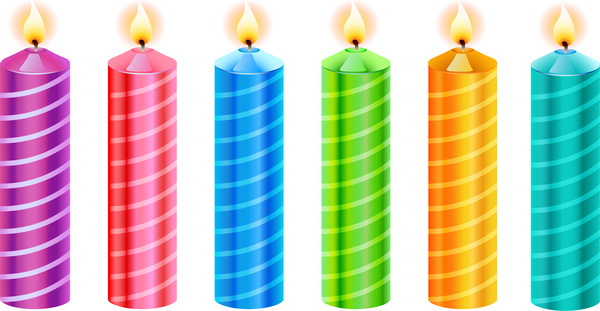 colorful candle collection