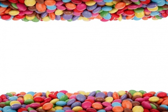 colorful candy border