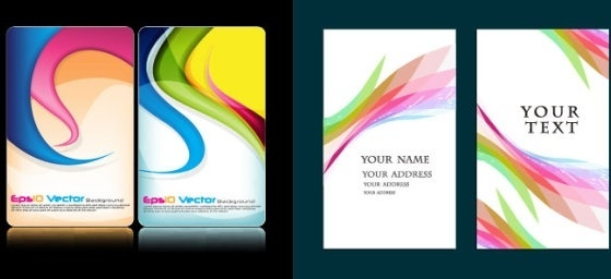 colorful card background vector