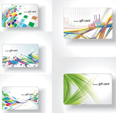 colorful card background vector the trend