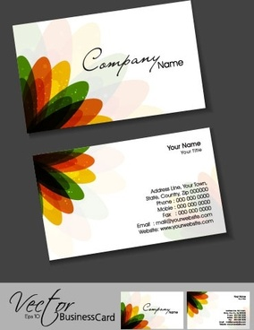 colorful card design 08 vector