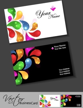 colorful card design 10 vector