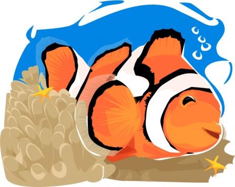 colorful cartoon fish under the sea