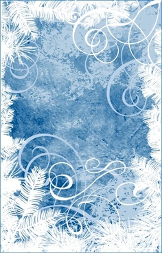 xmas background frozen color decor leaves icons
