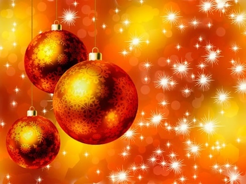 xmas background twinkling bokeh lights bauble balls decor
