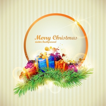 colorful christmas gift boxes vector