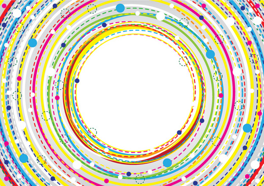 colorful circle banner background