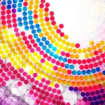 colorful circle dot background set vector