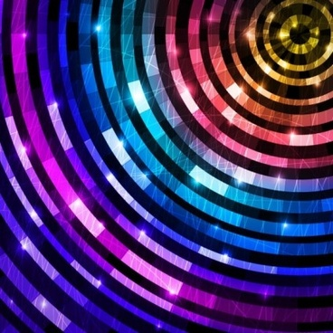 colorful circle light background vector