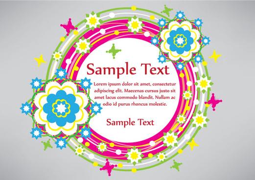 colorful circle shape banner