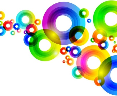 colorful circles background vector graphic
