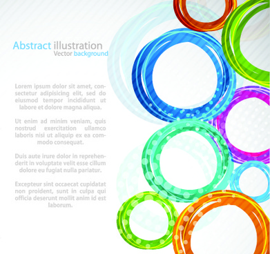 colorful circles backgrounds art