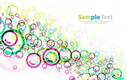 colorful circles design vector background