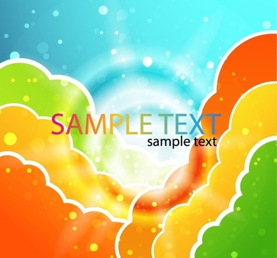 Colorful Clouds Vector Illustration