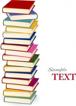 book stack background colorful 3d design