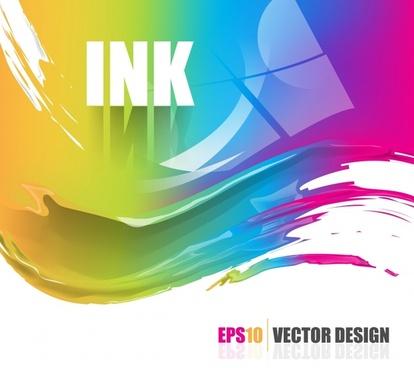 ink splashing background modern shiny colorful dynamic design