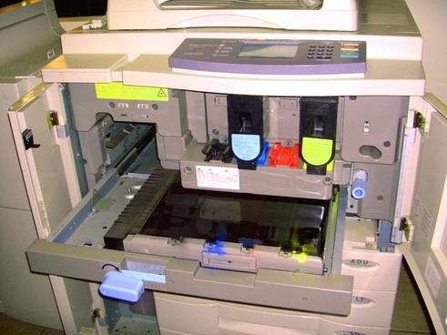 colorful copier guts