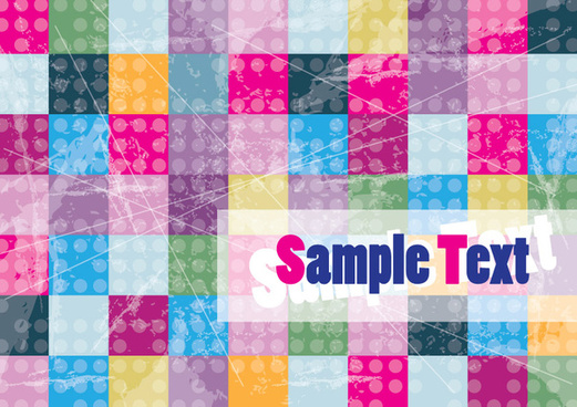 colorful cubes background card