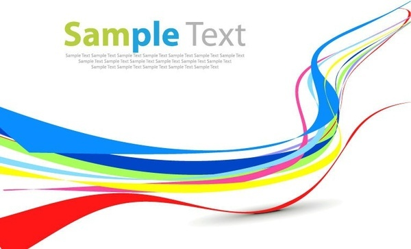 Colorful Curve Abstract Background Yellow Blue Red Free