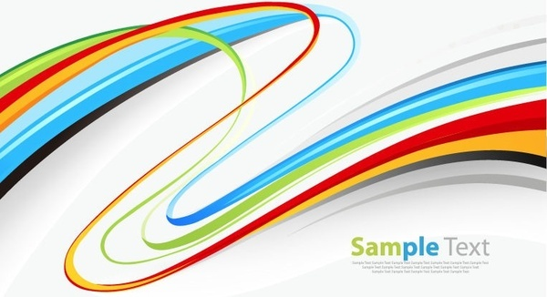 colorful curves abstract background vector illustration