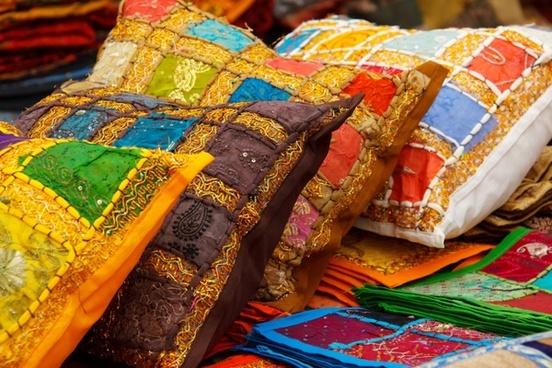 colorful cushion decor
