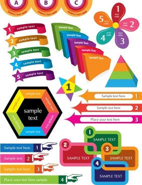 infographic design elements templates colorful modern shapes sketch