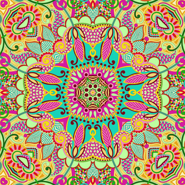 colorful decorative pattern design elements vector