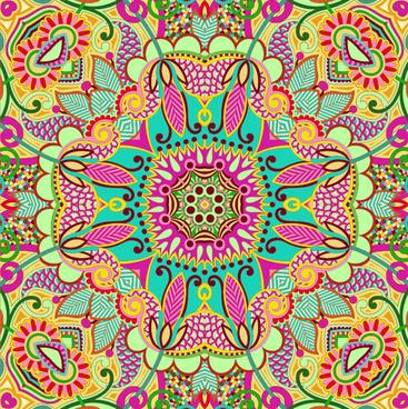 colorful decorative pattern design elements vector