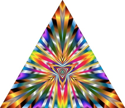 colorful delusion pattern illustration on triangles