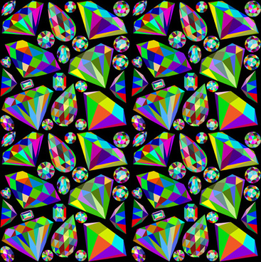 colorful diamonds seamless pattern vector graphics