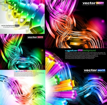 colorful dynamic graphics vector
