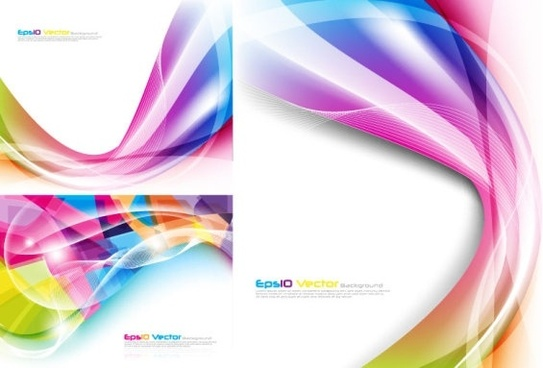 colorful dynamic lines of the vector