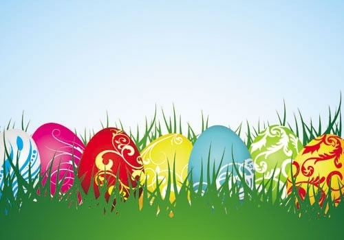 colorful easter background 04 vector