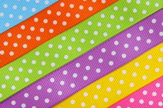 colorful easter ribbon