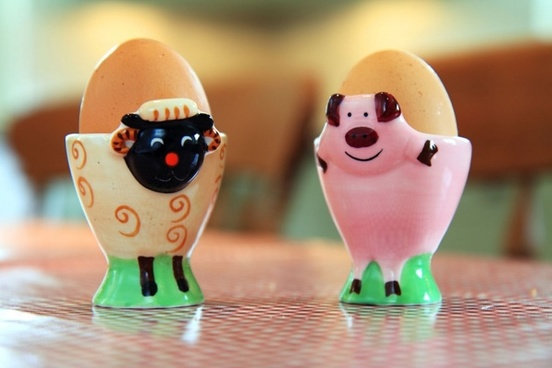 colorful eggcup