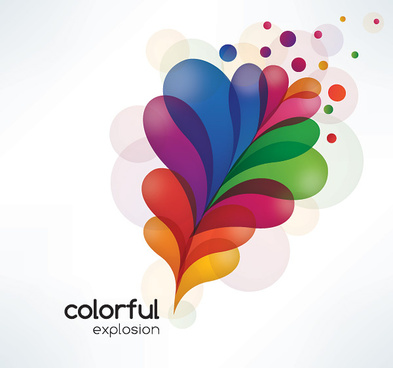colorful explosion vector graphic