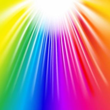 Colorful Explosive Glow Vector Background