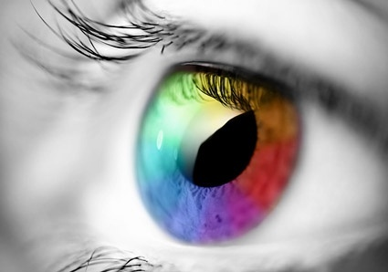 colorful eye picture