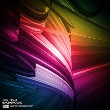 colorful eyecatching dynamic glare 03 vector