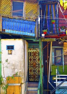 colorful facade caminito