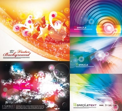 decorative background templates sparkling colorful dynamic decor