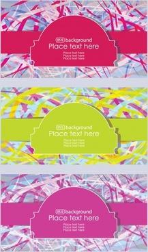 colorful fashion label vector