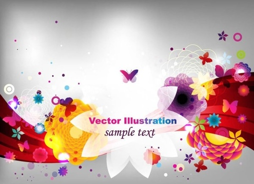 colorful fashion pattern 02 vector