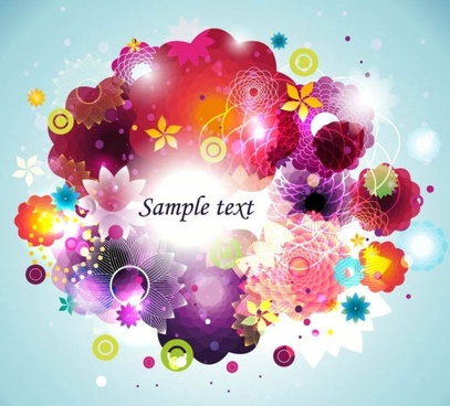 colorful fashion pattern 05 vector