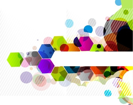 decorative background modern colorful blurred geometric flat polygon