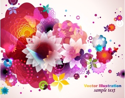 decorative background modern colorful petals decor