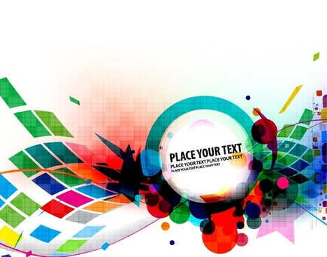 decorative background modern colorful dynamic messy shapes design