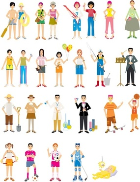 colorful figure vector
