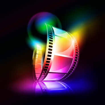 colorful film art background vector